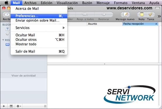 Configurar Mail MAC