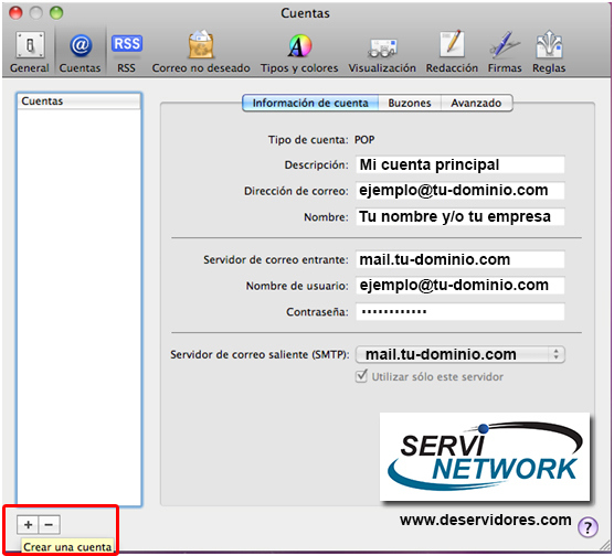 Configurar correo en Mail de Mac
